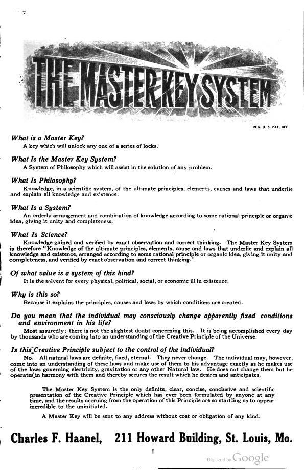 Key pdf master the system