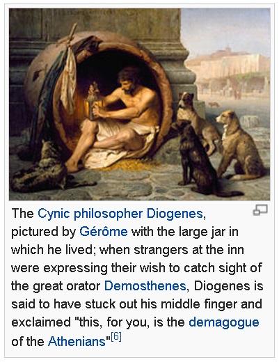 DiogenesTheFinger
