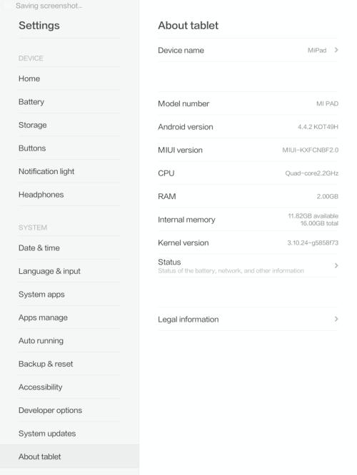 XiaomiMiPadXDAAbout