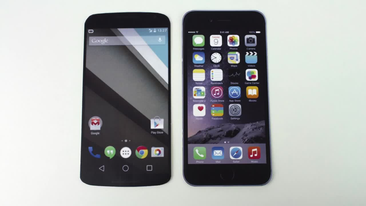 Nexus 6 Vs. iPhone 6 Plus: Size | Mike Cane's xBlog