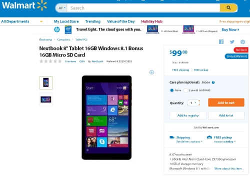 WalmartNextbookWin8USD9901