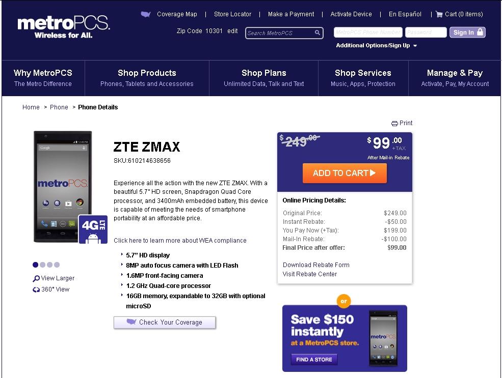 ZTE Zmax Update | Mike Cane's xBlog