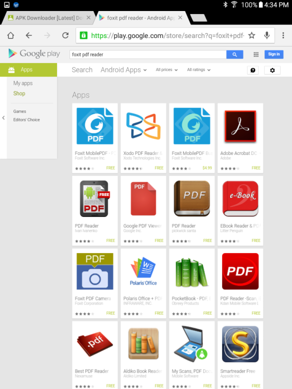 Google Books PDF Test: Samsung Galaxy Tab A 8 0   Mike