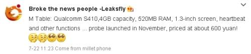 LeaksflyXiaomiWatchWeibo