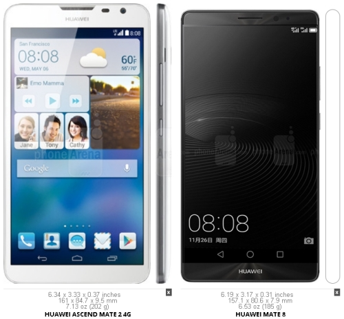 HuaweiMate2vMate8