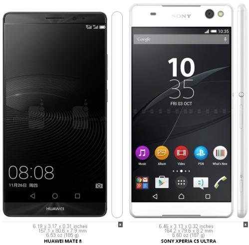 HuaweiMate8vSonyXperiaC5Ultra
